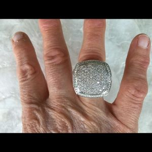 David Yurman 17mm Pave Diamond 925 Albion Ring